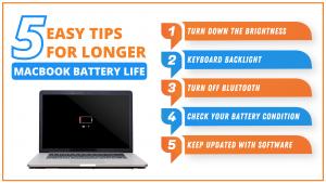 5 Easy Tips for Longer MacBook Battery Life | Lappy Maker